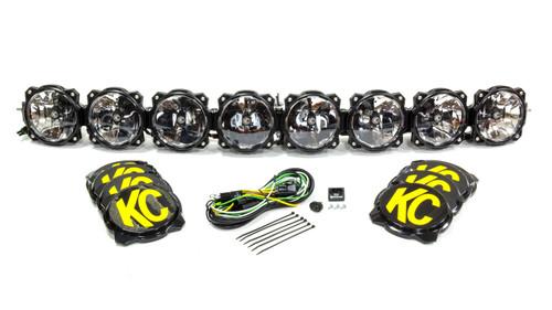Kc Hilites 91308 Pro6 Gravity LED Light Bar 8 Light 50in
