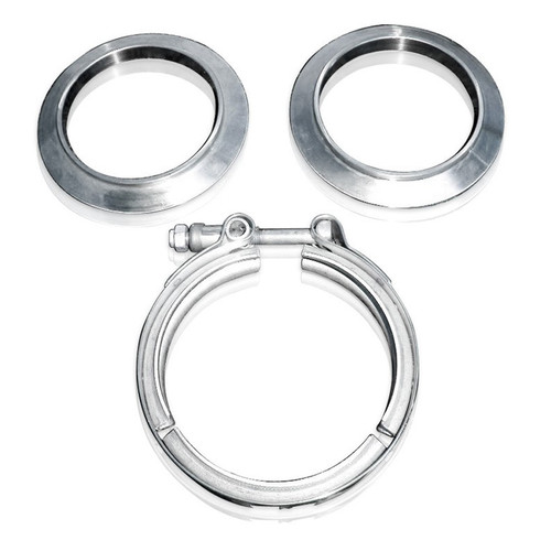 Stainless Works VBC4 V-band kit 4in Kit Includes Clamp & Flanges