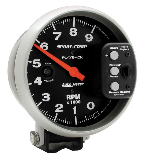 Autometer 3966 5in S/C 9000 RPM Playback Tach