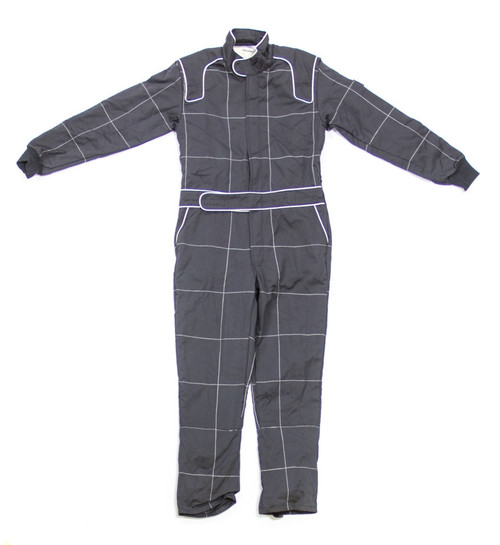 Crow Enterprizes 30024 Driving Suit Large Black MultiLayer 1-Piece Nomex