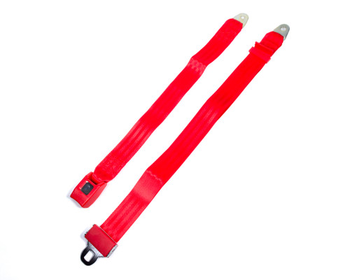 Safe-T-Boy Products STBSB2LSRD 2 Point Lap Belt Red