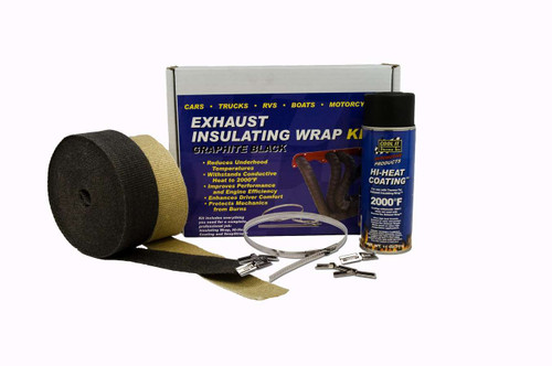 Thermo-Tec 19122 Exhaust Wrap Kit 4/6 Cylinder Black