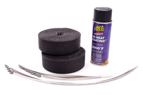 Thermo-Tec 19222 Exhaust Wrap Kit 8 Cyl Black