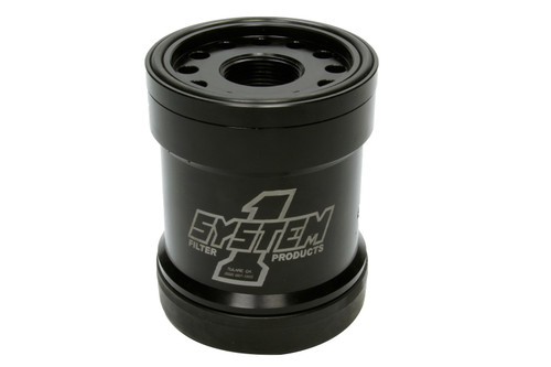 System One 210-005 Billet HP6 Style Oil Filter 45 Micron