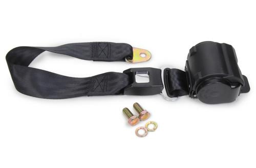 Safe-T-Boy Products STBSB2PRBK 2 Point Retractable Lap Belt Black