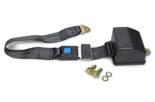 Safe-T-Boy Products STBSB2PRCH 2 Point Retractable Lap Belt Charcoal