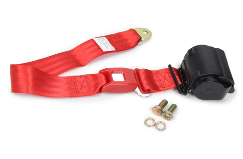 Safe-T-Boy Products STBSB2PRRD 2 Point Retractable Lap Belt Red