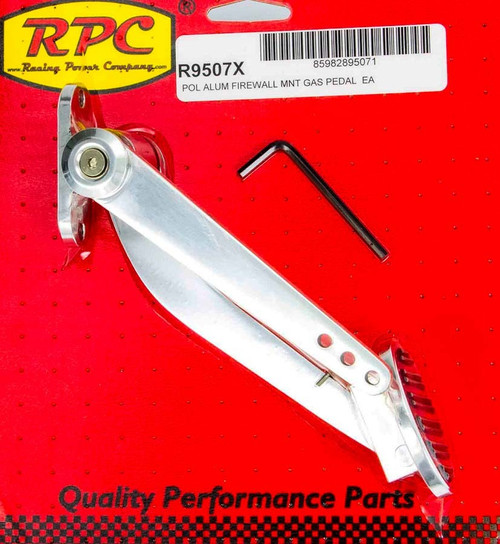 Racing Power Co-Packaged R9507X Polished Alum Firewall Mount Gas Pedal