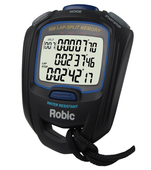 Robic Watches 87957 Stopwatch SC-757W 500 Lap Dual Memory