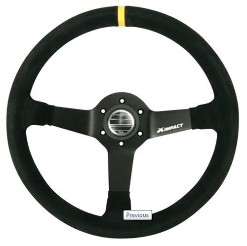 Impact Racing 62000000 Steering Wheel Grip 13.75in Black Dish