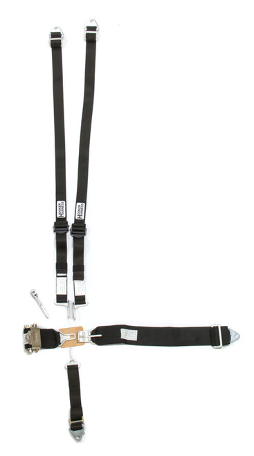 Hooker Harness 52110 5-Pt Harness HANS Alum. LL USD Ratchet Adj Black