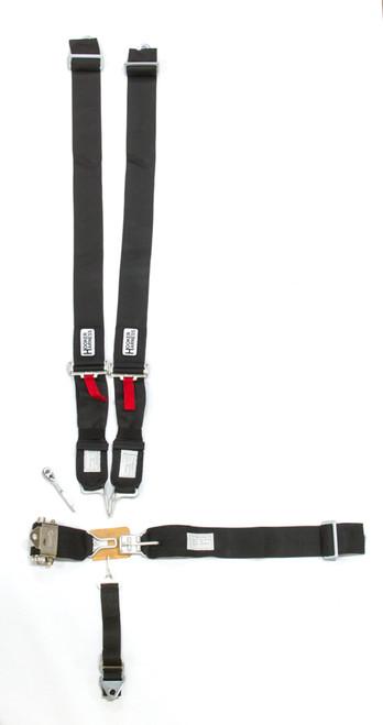 Hooker Harness 53000 5-pt Harness System LL USD Ratchet Adj Blk