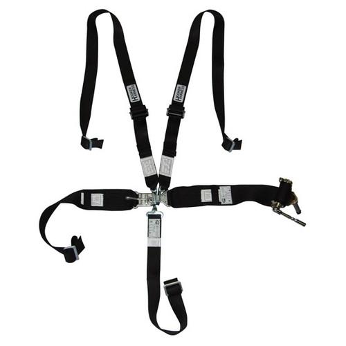Hooker Harness 53100 5-pt Harness System Hans LL USD Rachet Adj Blk