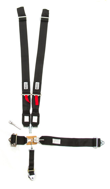 Hooker Harness 51000 5-Pt Harness System LL Ratchet Adj Black