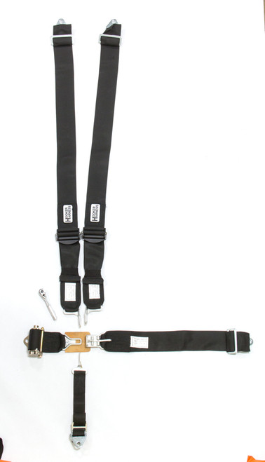 Hooker Harness 51010 5-Pt Harness Alum. LL Ratchet Adj Black