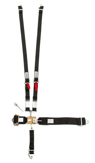 Hooker Harness 51100 5-Pt Harness System Hans LL Ratchet Adj Black