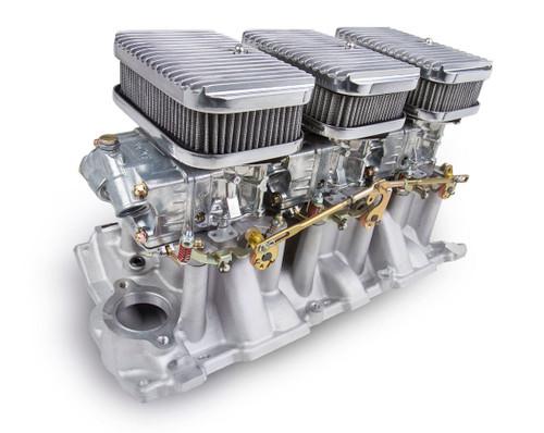 Holley 300-522 SBC 3x2 Tri-Power System