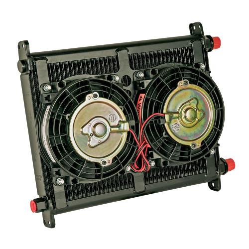 Flex-A-Lite 700040 Engine Oil Cooler 40 Row 7/8-14 w/2 6.5in Fans