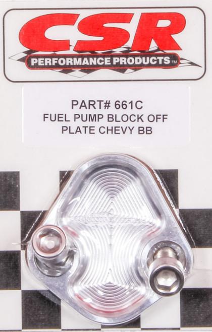 Csr Performance 661C BBC F/P Block-Off Plate - Clear