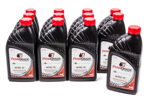 Penngrade Motor Oil 71176-12 Nitro 70 Racing Oil Case/12-Qt