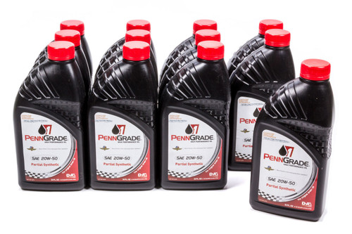 Penngrade Motor Oil 71196-12 20w50 Racing Oil Case Partial Synthetic