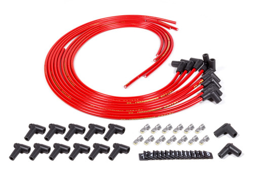 Fuel Injection Enterprises,Llc SUPP90-R Spark Plug Wire Set 90deg Red Sprint Mag