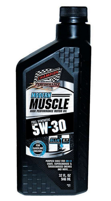 Champion Brand 4401H Modern Muscle 5w30 Oil 1 Qt. Full Synthetic