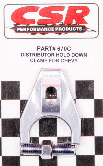 Csr Performance 670C Chevy Distributor Hold Down Clamp - Clear