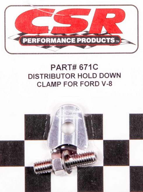Csr Performance 671C Ford V8 Distributor Hold Down Clamp - Clear