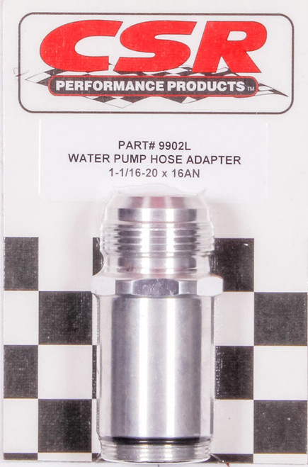 Csr Performance 9902L Water Pump Hose Adapter - 1-1/16 x 16an