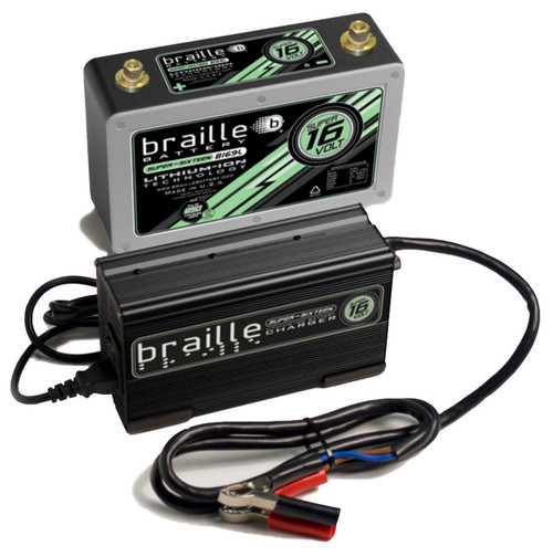 Braille Auto Battery B169LC Lithium ION Super 16 Volt Battery w/Charger