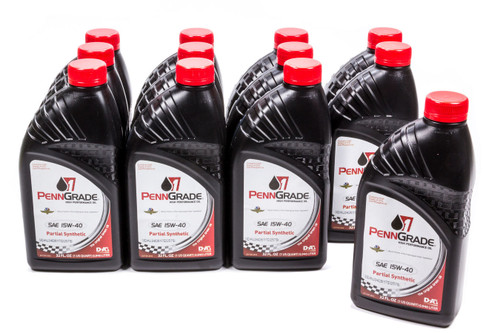 Penngrade Motor Oil 71586-12 15w40 Racing Oil Cs/12Qt Partial Synthetic