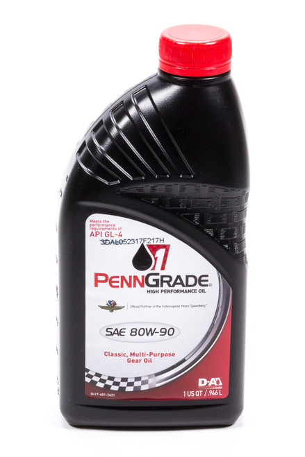Penngrade Motor Oil 77296 80w90 Hypoid Gear Oil 1 Qt. GL-4