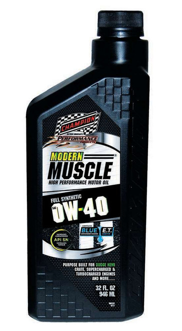 Champion Brand 4402H Modern Muscle 0w40 Oil 1 Qt. Full Synthetic