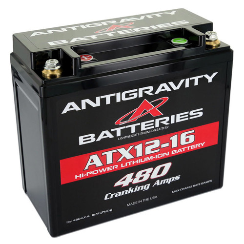 Antigravity Batteries AG-ATX12-16-R Lithium Battery 480CCA 12Volt 3Lbs 16 Cell
