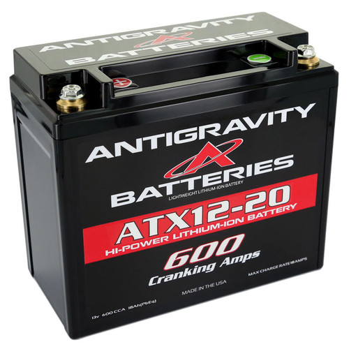 Antigravity Batteries AG-ATX12-20-R Lithium Battery 600CCA 12Volt 3Lbs 20 Cell