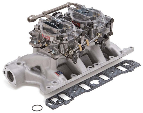 Edelbrock 2085 SBF Dual Quad Manifold & Carb Kit