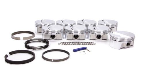 Bullet Pistons BC1020-020-8 SBC F/T Piston Set w/Rings 4.020 Bore