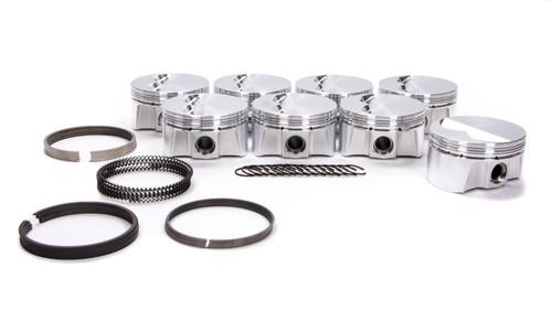 Bullet Pistons BC1021-STD-8 SBC F/T Piston Set w/Rings 4.000 Bore