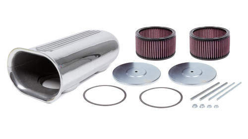 The Blower Shop 5510 Dual Carb Blower Scoop Kit - Polished