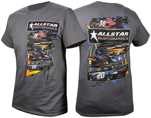 Allstar Performance 99901M T-Shirt Dark Gray Circle Track Medium