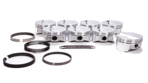 Bullet Pistons BC1100-STD-8 SBC F/T Piston Set w/Rings 4.125 Bore