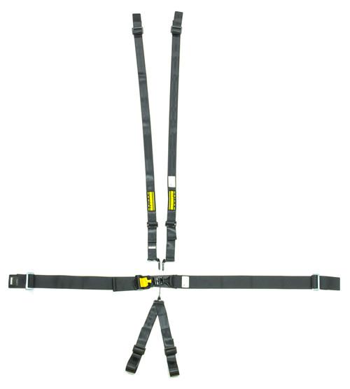 Schroth Racing SR76560H 6pt Harness System SFI LatchLink Black HANS