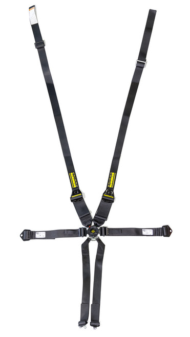Schroth Racing SR91143NC 6pt Harness System SFI ProFi II Hans Black