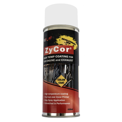 Zycoat 18013 ZyCor Gasser White Color Coat 13 oz Aerosol