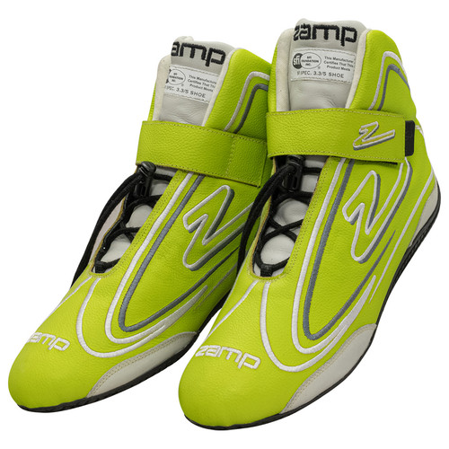 Zamp RS003C0910 Shoe ZR-50 Neon Green Size 10 SFI 3.3/5