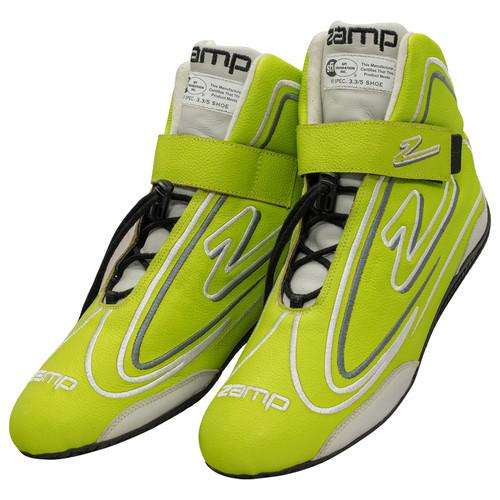 Zamp RS003C0912 Shoe ZR-50 Neon Green Size 12 SFI 3.3/5