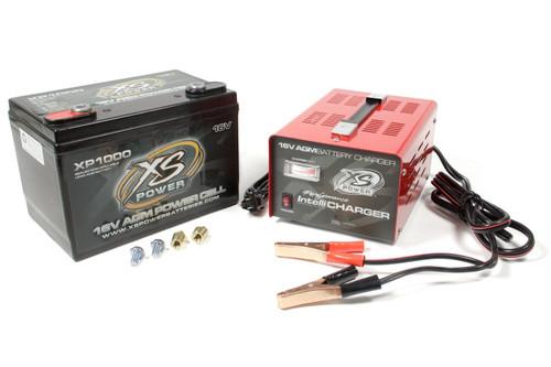 Xs Power Battery XP1000CK2 AGM Battery 16V 2 Post w/15A IntelliCharger