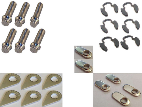 Stage 8 Fasteners 8950S Collector Bolt Kit - 6pt 3/8-16 x 1in (6)