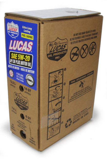Lucas Oil 18001 SAE 5W20 Motor Oil 6 Gallon Bag In Box